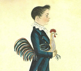 BOY WITH A ROOSTER