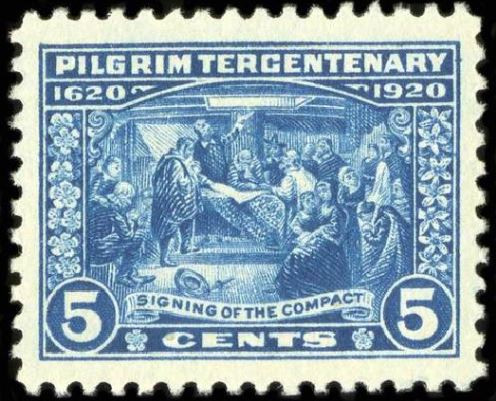Tercentenary Stamp Commemorating the signing of the Mayflower Compact