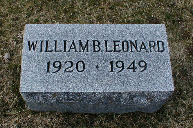 William B. Leonard burial