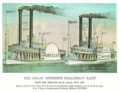 THE GREAT MISSISSIPPI STEAMBOAT RACE
