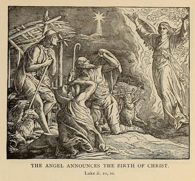 The angel announces the birth of Christ