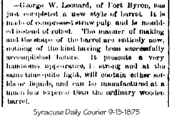 George Leonard of Port Byron, NY