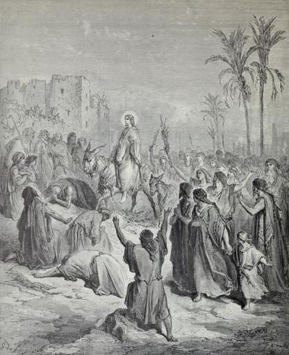 Jesus enters Jerusalem