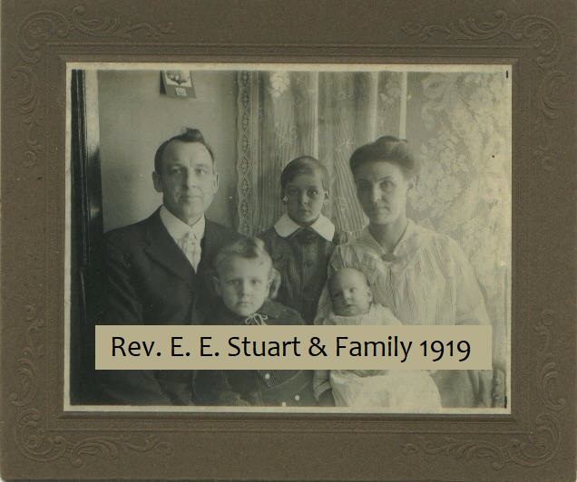 Rev. E. E. Stuart & Family 1919 photograph