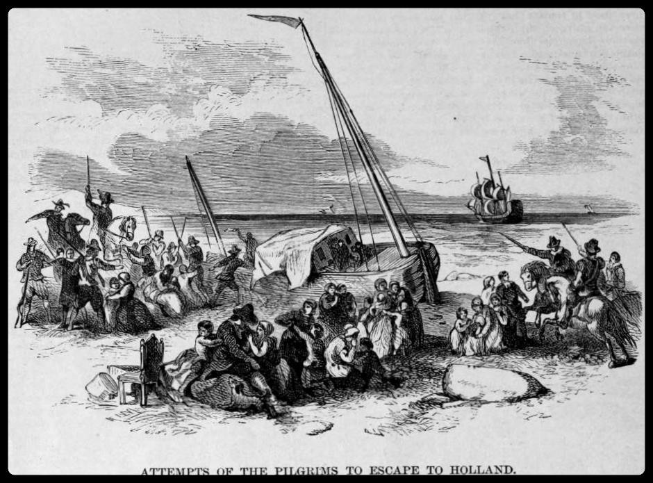 Pilgrims attempt to escape from Holland
