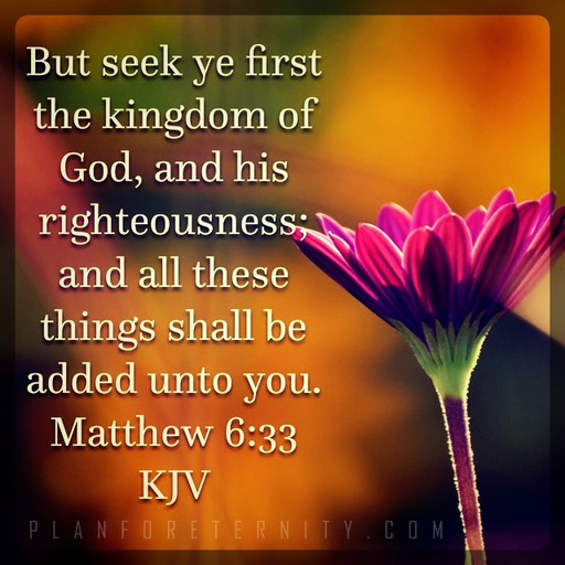 Seek God first and He will give you what you need