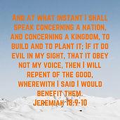 Jeremiah 18:10