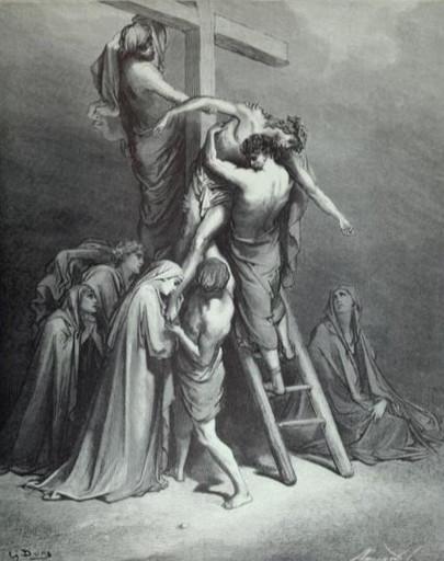 Joseph takes the body of Jesus