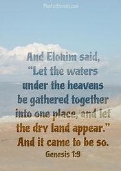 God creates land
