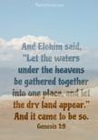 Genesis 1:9