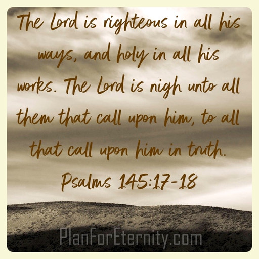 God is righteous and holy