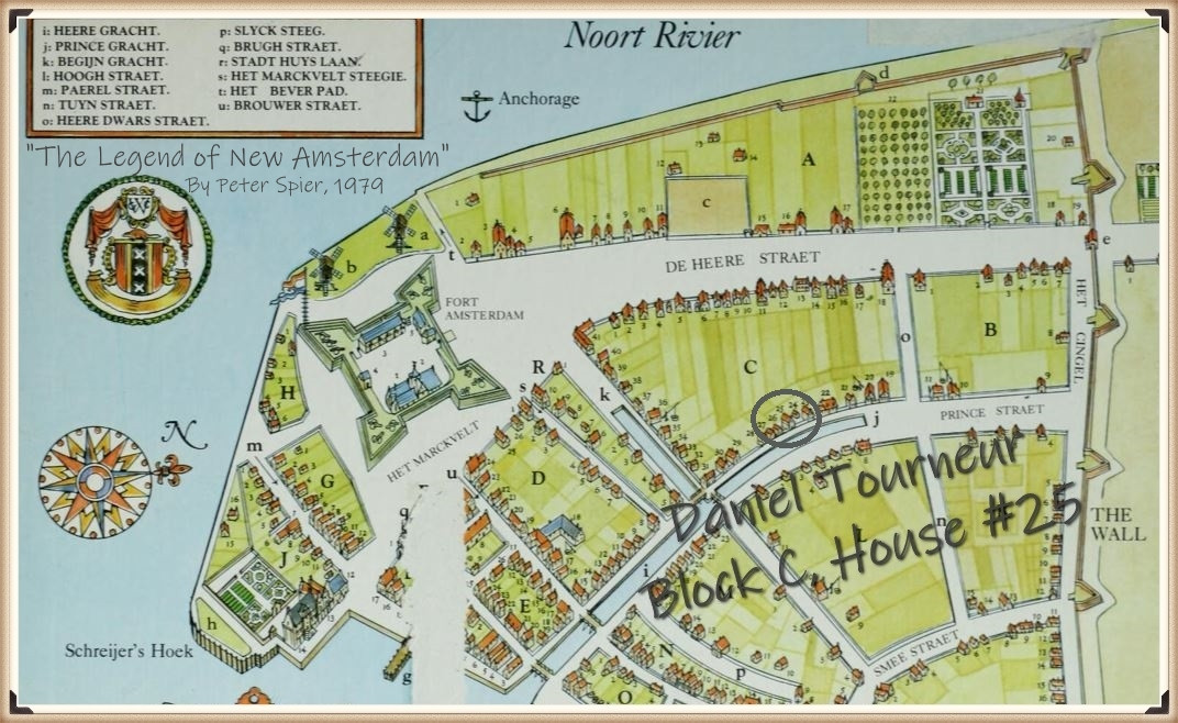 Daniel Tourneur's land in New Amsterdam