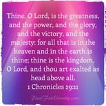 1 Chronicles 29:11