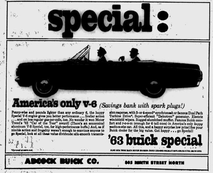 1963 Buick Special ad