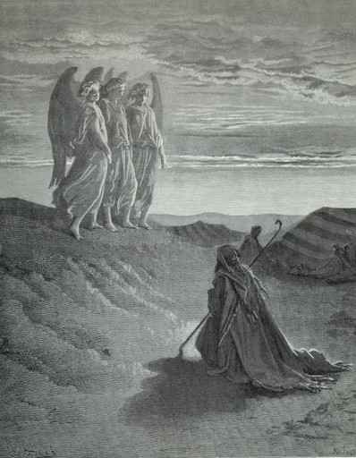 Abraham visited by angels