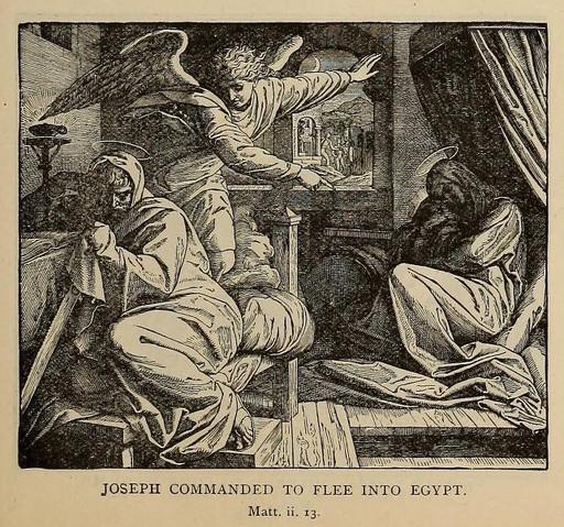 Joseph commanded to flee to Egypt