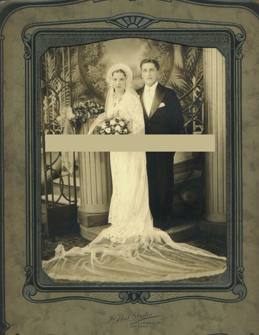 Bride and Groom in Chicago photograph