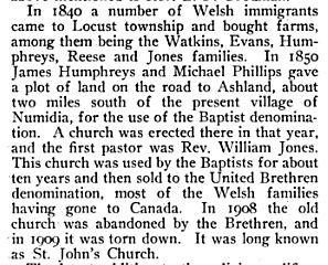 Reese's in Locust Township, Pennsylvania 1840
