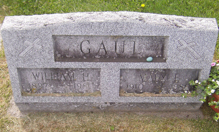 Mary E. (Harvey) Reese Gaul burial