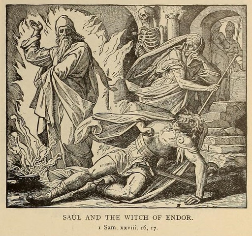 Saul casts witches out of the land