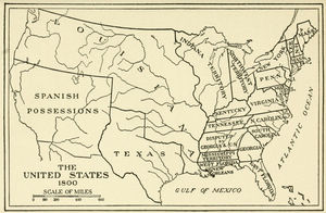 Map Of The United States In 1800 - Us-map-early-1800s