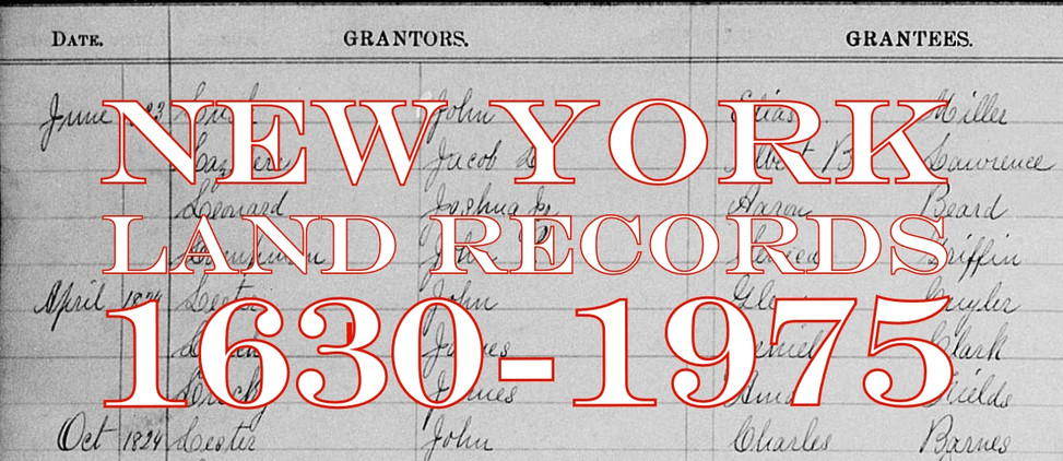 New York Land Records 1630-1975