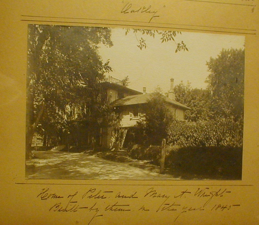 Home of Peter and Mary (Anderson) Wright photograph