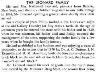 Nathaniel Leonard of Batavia, New York