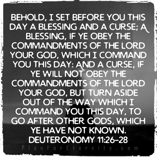 Choose the blessing or the curse