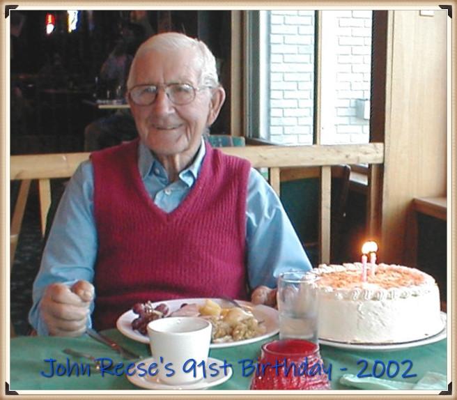 Lloyd John Reese 91st birthday