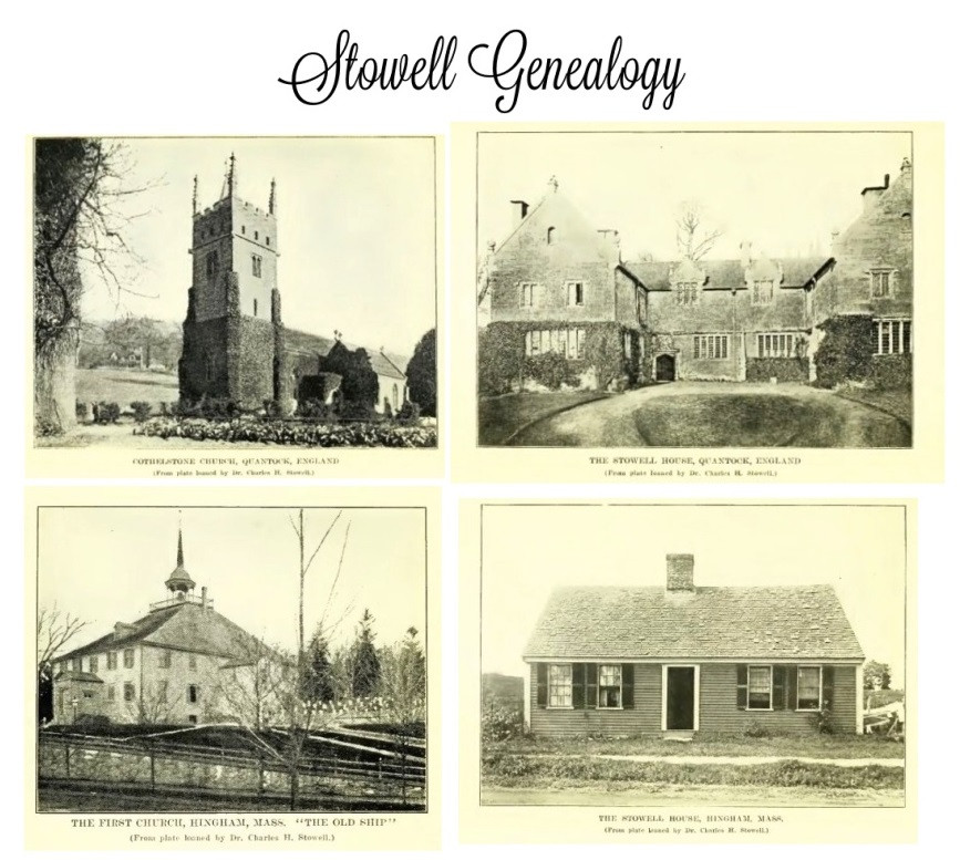 Stowell family homes and church photos