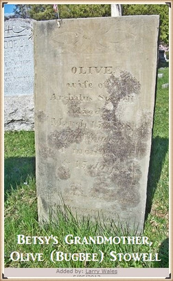 Olive Bugbee's burial