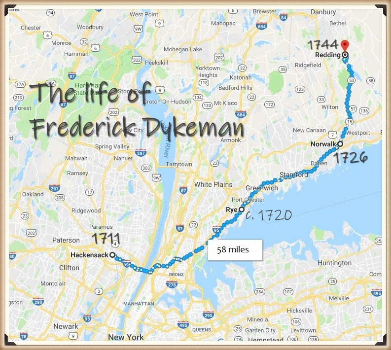 Life map of Frederick Dykeman