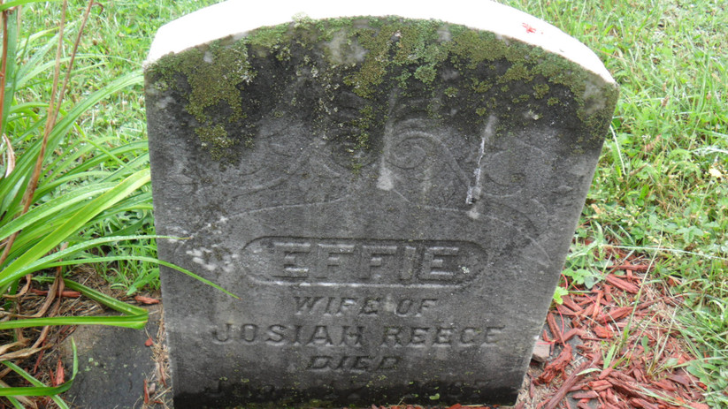 Effie (Shaner) Reese grave at Franklin Stone Heap Cemetery