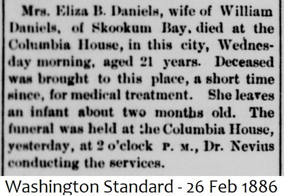 Eliza (Gale) Daniels obituary