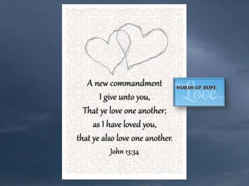 Jesus' new commandment