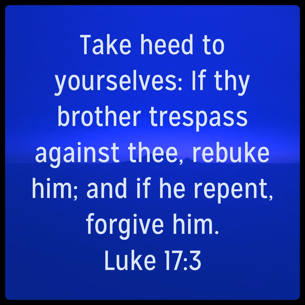 Forgiveness after repentance
