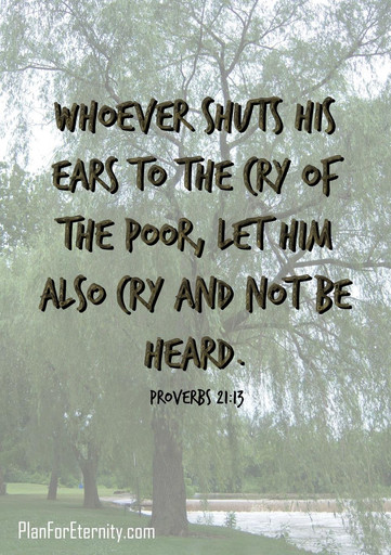 God ignores those who ignore the needy