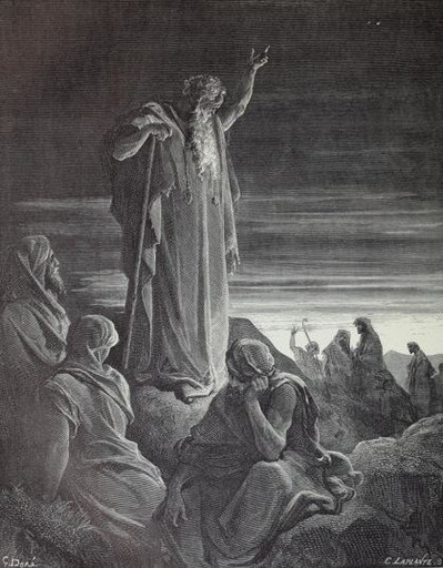 Ezekiel prophecying