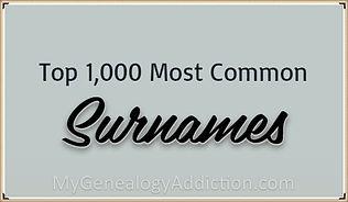 Top 1,000 Surnames