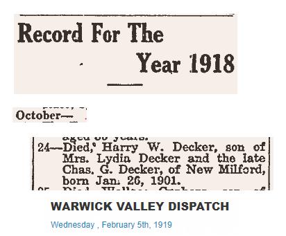 Harry W. Decker dies