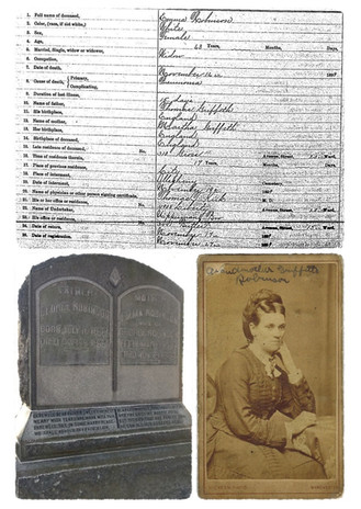 Emma (Griffith) Robinson death and burial