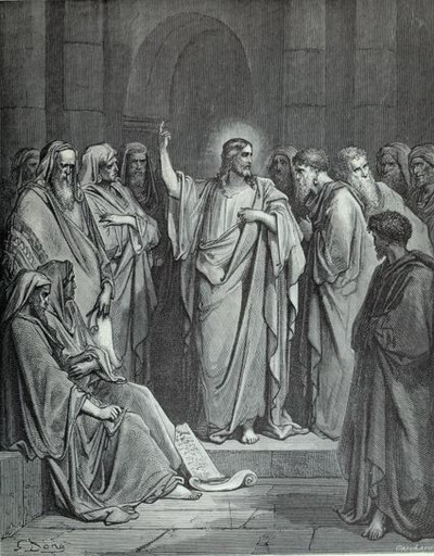 Jesus Preaching in the Synagogue