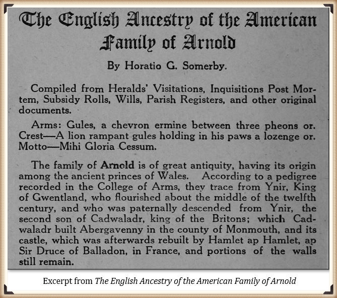Arnold family and its English ancestry