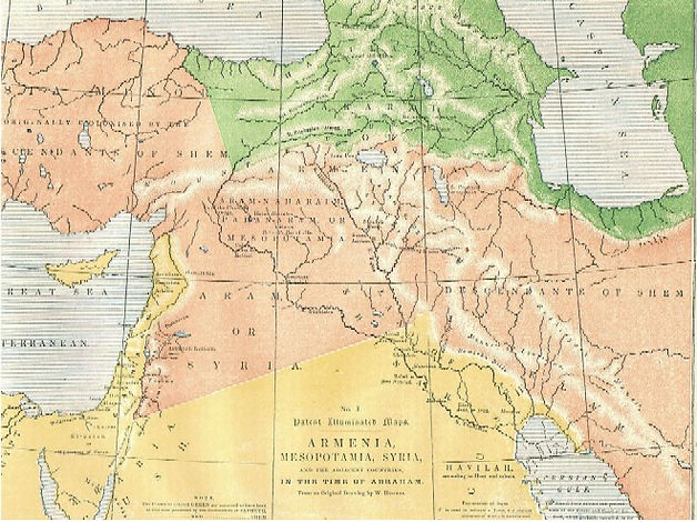 Map I - ARMENIA, Mesopotamia, Syria, and the Adjacent Countries in the time of Abraham