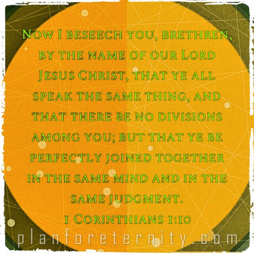 God's Word should not create division - Jesus is our unifier