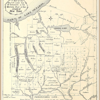 The Central New York Military Tract map