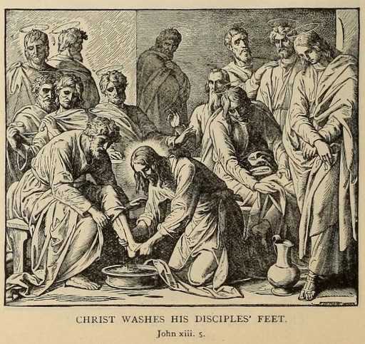 Christ washes his disciples feet
