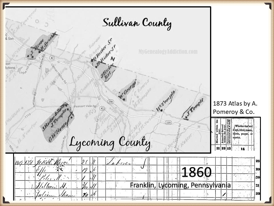 Josiah Reese on the census 1840-1870