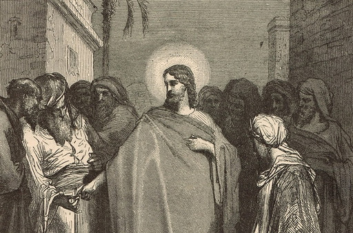 Jesus is questioned about taxes